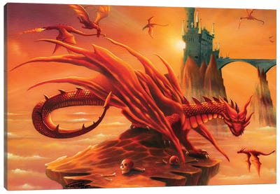 Battle At The Magic Hour Canvas Art Print