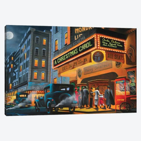 Theater District Canvas Print #GEP170} by Geno Peoples Canvas Art
