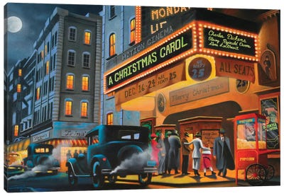 Theater District Canvas Art Print