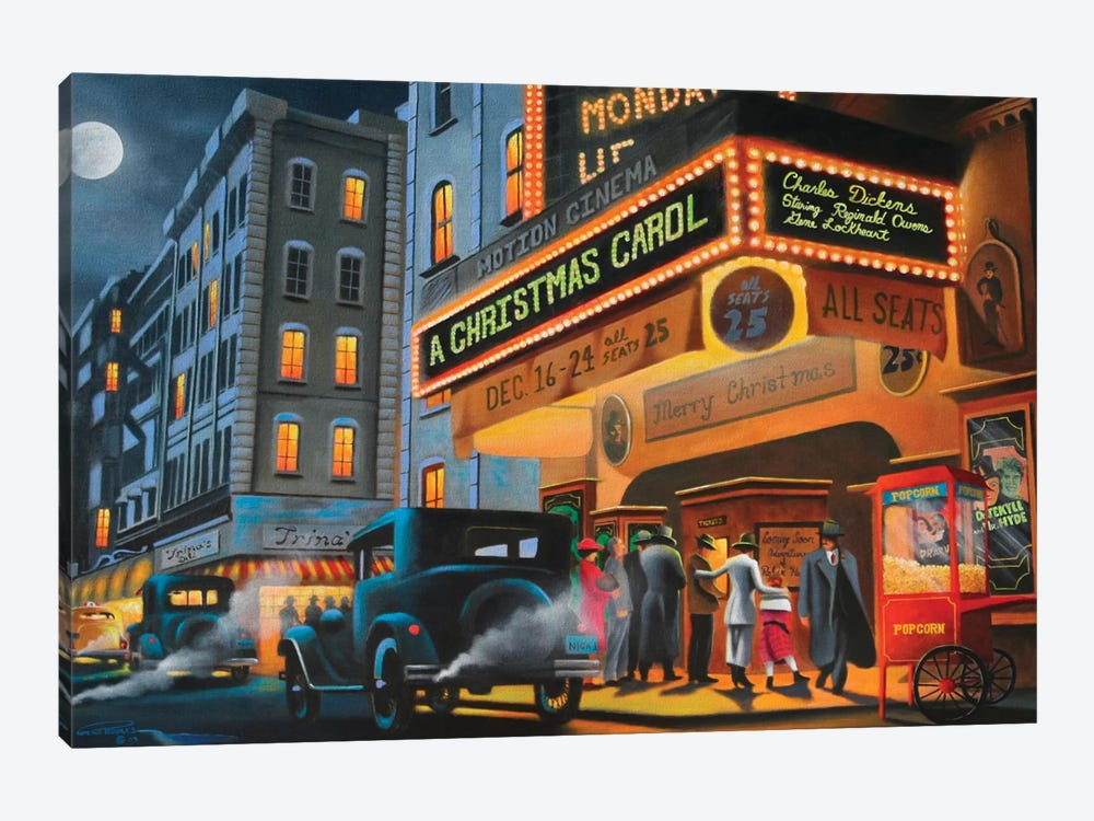 Theater District by Geno Peoples 1-piece Canvas Wall Art