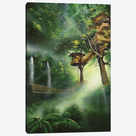 Treehouse Canvas Print #GEP175} by Geno Peoples Canvas Art Print