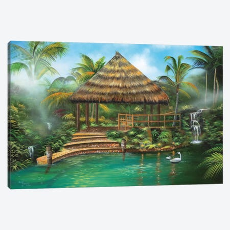 Tropical Paradise Canvas Print #GEP179} by Geno Peoples Canvas Art