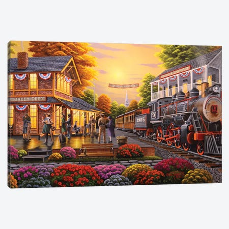 Welcome Home Boys Canvas Print #GEP185} by Geno Peoples Canvas Artwork