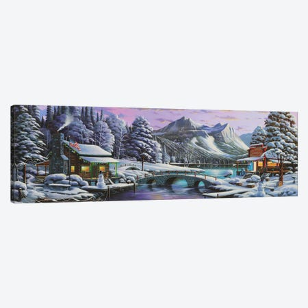 White Christmas Canvas Print #GEP187} by Geno Peoples Canvas Wall Art