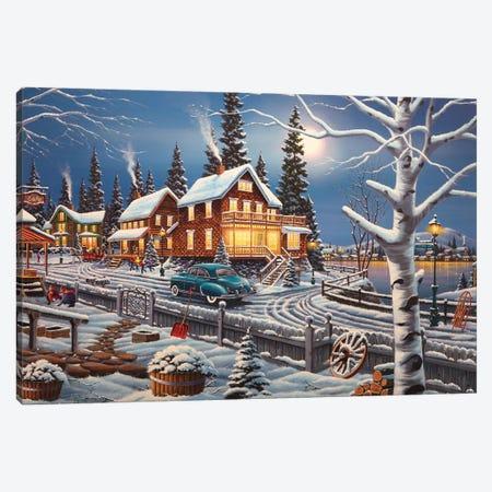 Winter Playtime Canvas Print #GEP189} by Geno Peoples Canvas Print