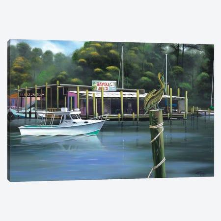 Bayou Joe's Canvas Print #GEP18} by Geno Peoples Canvas Wall Art
