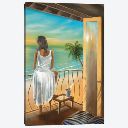 Woman Beach Canvas Print #GEP191} by Geno Peoples Canvas Art