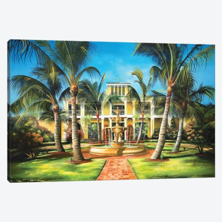 Yellow House Canvas Print #GEP195} by Geno Peoples Canvas Print