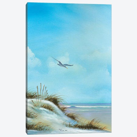 Beach I Canvas Print #GEP19} by Geno Peoples Canvas Art
