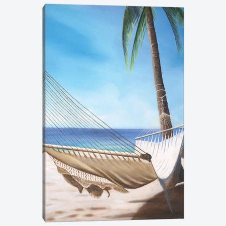 Beach Hammock Canvas Print #GEP23} by Geno Peoples Art Print
