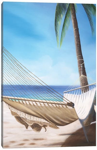 Beach Hammock Canvas Art Print