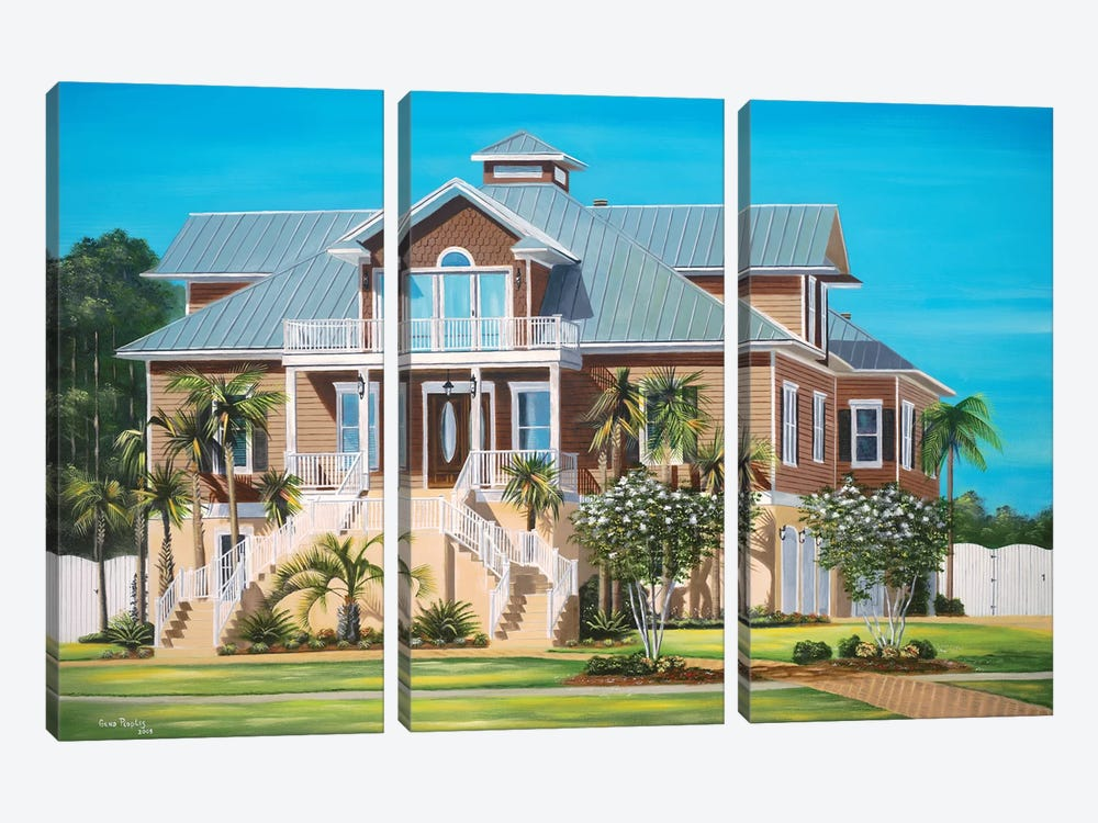 Brown House by Geno Peoples 3-piece Art Print