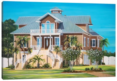 Brown House Canvas Art Print