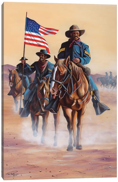 Buffalo Soldiers Canvas Art Print
