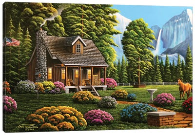 Cabin Life Canvas Art Print