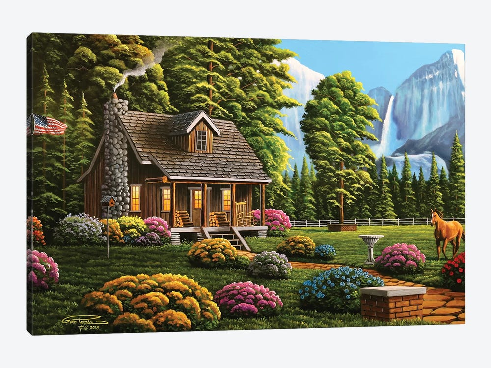 Cabin Life by Geno Peoples 1-piece Art Print