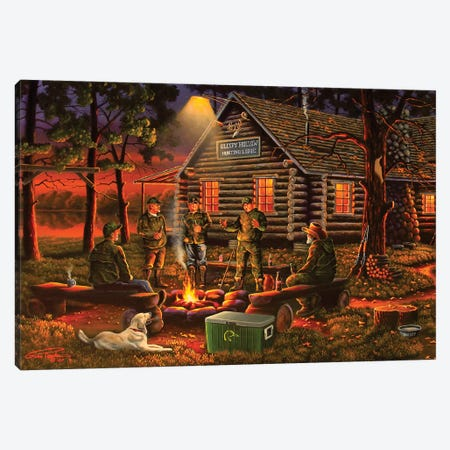 Campfire Tales Canvas Print #GEP33} by Geno Peoples Canvas Art