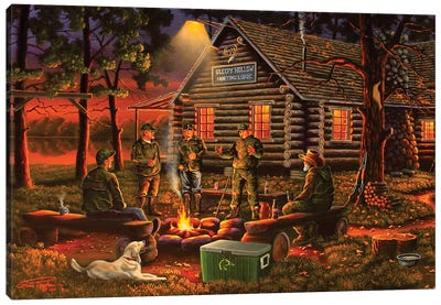 Campfire Tales Canvas Art Print