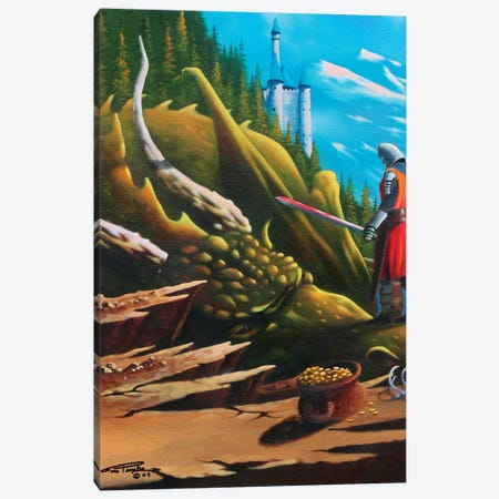 Conquered Canvas Print #GEP43} by Geno Peoples Canvas Print