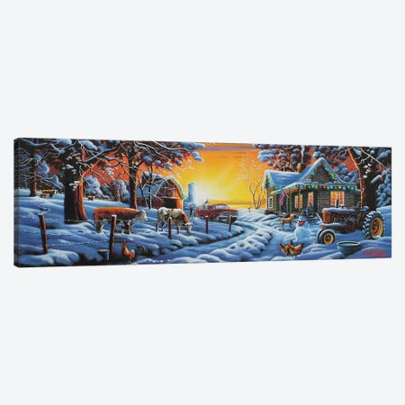 Country Christmas Canvas Print #GEP45} by Geno Peoples Canvas Art