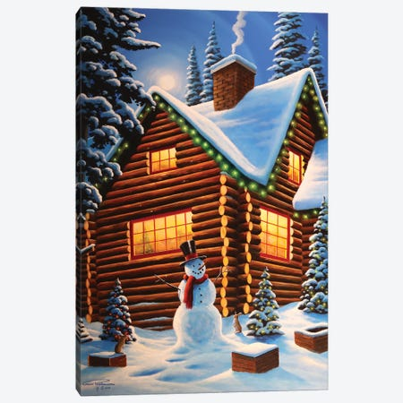 Cozy Christmas Canvas Print #GEP48} by Geno Peoples Canvas Art Print