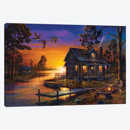 Cozy Retreat Canvas Print #GEP49} by Geno Peoples Art Print