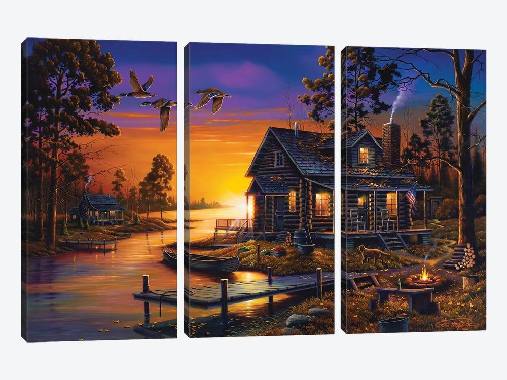 Cozy Retreat by Geno Peoples 3-piece Canvas Art Print