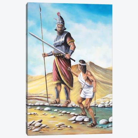 David Goliath Canvas Print #GEP53} by Geno Peoples Canvas Artwork