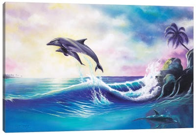 Dolphins Canvas Art Print