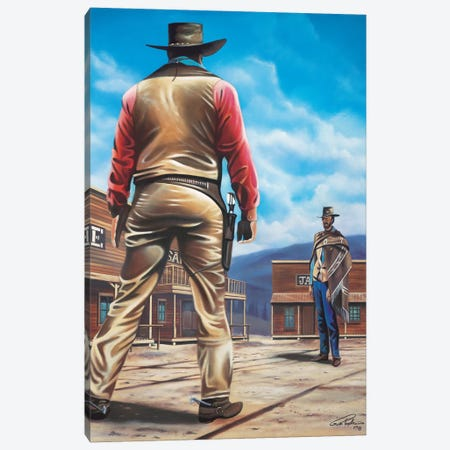 Duel Of The Century Canvas Print #GEP58} by Geno Peoples Canvas Wall Art