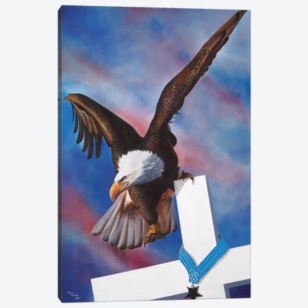 Eagle Canvas Print #GEP59} by Geno Peoples Canvas Wall Art