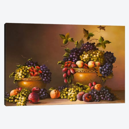 Fresh From The Garden Canvas Print #GEP69} by Geno Peoples Art Print