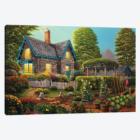 Garden Escape Canvas Print #GEP71} by Geno Peoples Canvas Artwork