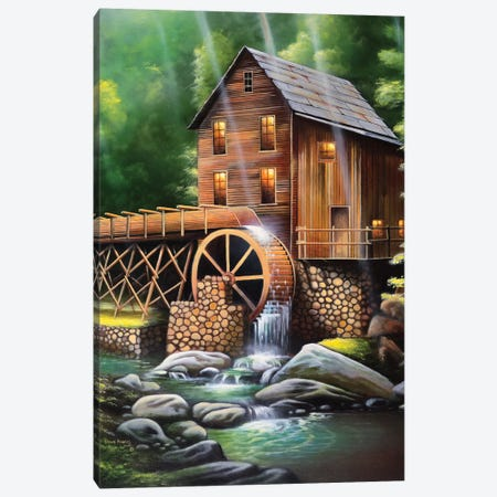 Gristmill Canvas Print #GEP74} by Geno Peoples Canvas Art Print