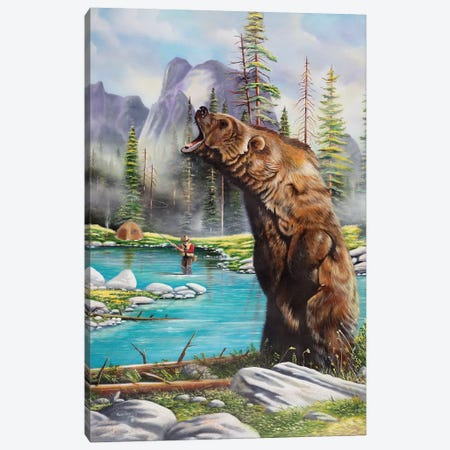 Grizzly Canvas Print #GEP75} by Geno Peoples Canvas Print