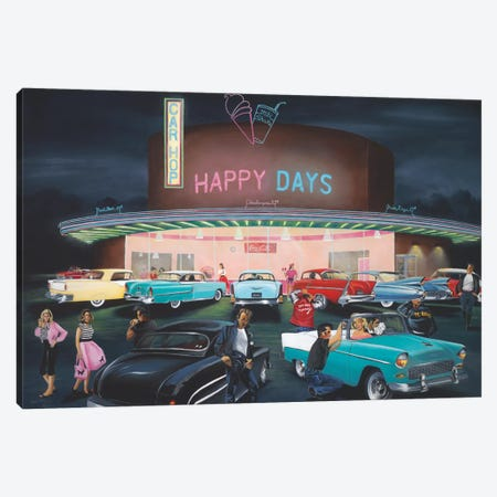 Happy Days Canvas Print #GEP76} by Geno Peoples Canvas Art Print