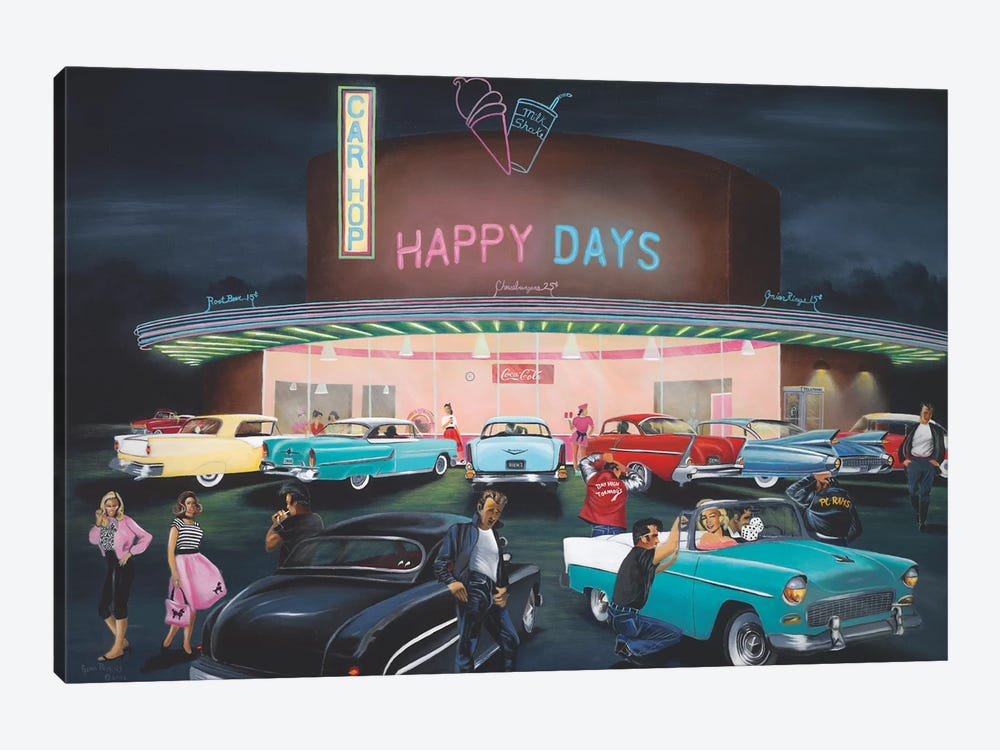 Happy Days by Geno Peoples 1-piece Art Print