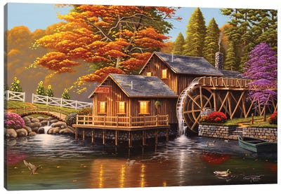 Adam's Mill Canvas Art Print