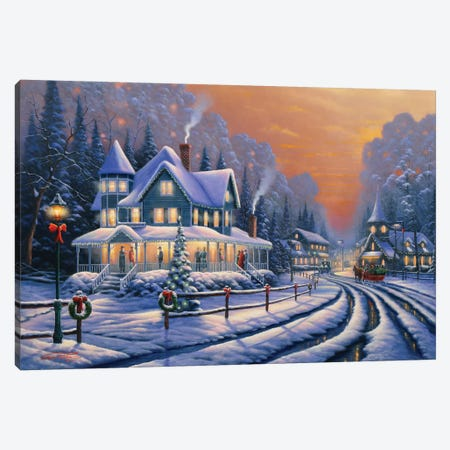 Holiday Social Canvas Print #GEP84} by Geno Peoples Canvas Artwork