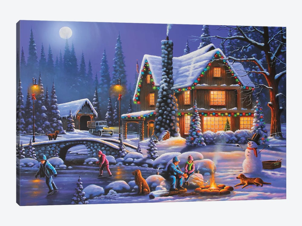 Holiday Spirit by Geno Peoples 1-piece Canvas Print