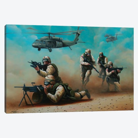 Home Of The Brave Canvas Print #GEP86} by Geno Peoples Canvas Art