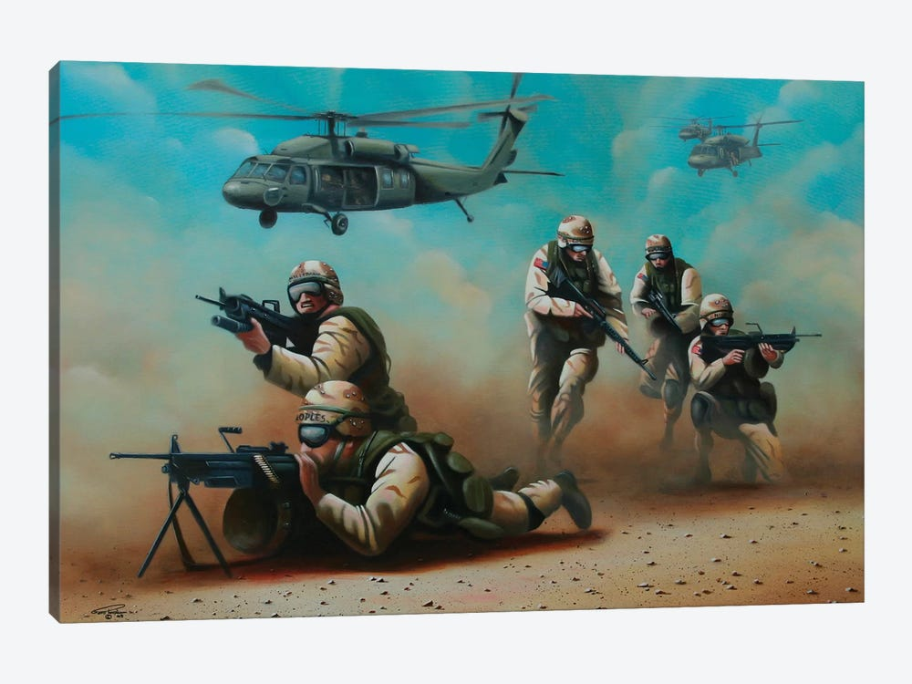 Home Of The Brave by Geno Peoples 1-piece Canvas Artwork