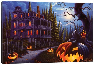 Jack-o-Lantern Lane Canvas Art Print
