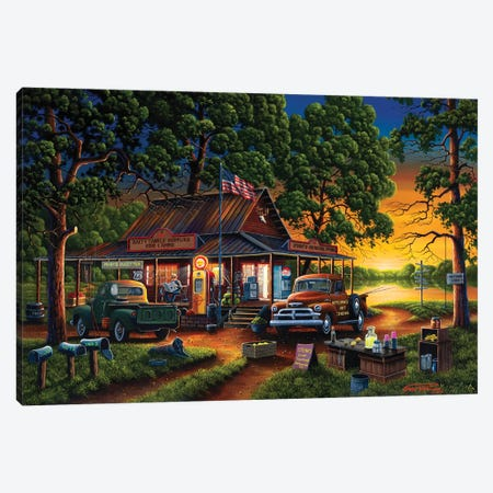 Jose's Country Store Canvas Print #GEP92} by Geno Peoples Canvas Art