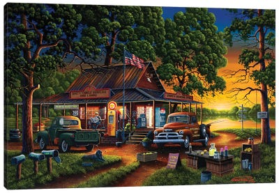 Jose's Country Store Canvas Art Print