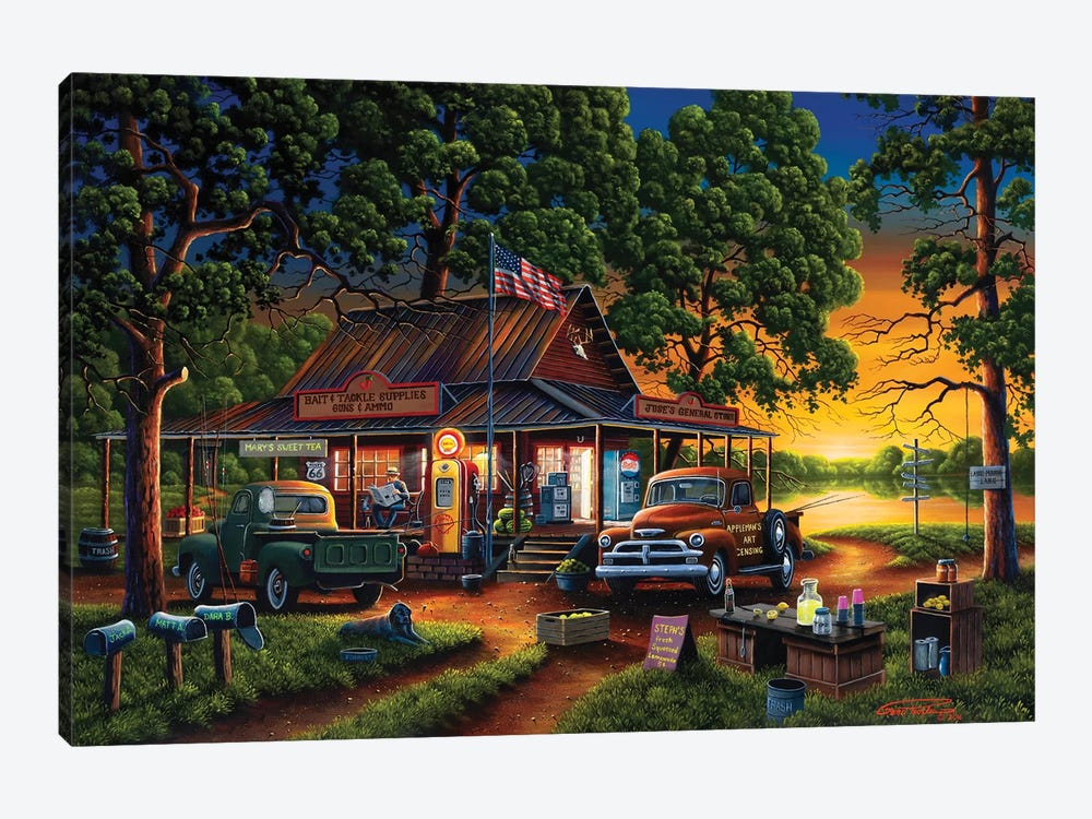 Jose's Country Store by Geno Peoples 1-piece Canvas Print