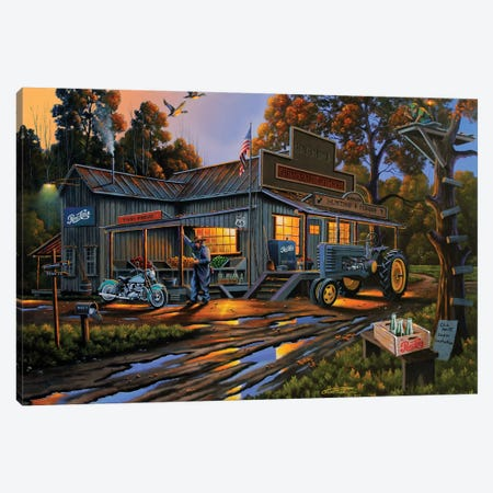 Karmin's General Store Canvas Print #GEP93} by Geno Peoples Canvas Art