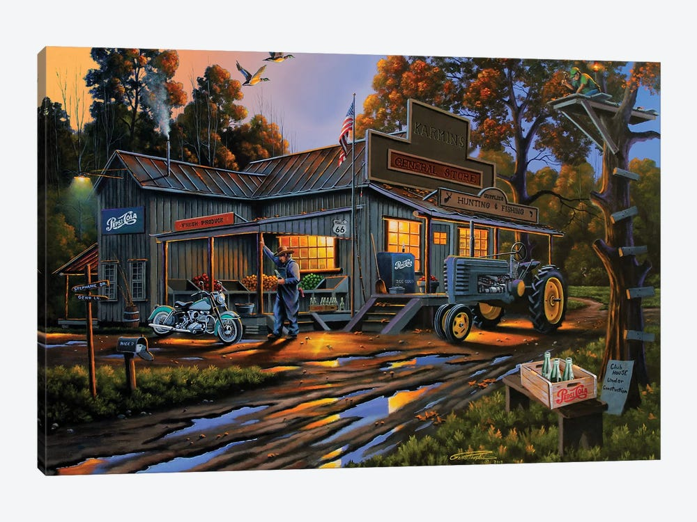 Karmin's General Store by Geno Peoples 1-piece Canvas Artwork