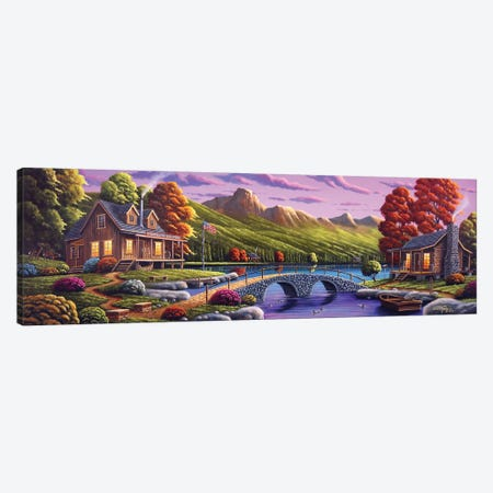 Lakeside Paradise Canvas Print #GEP94} by Geno Peoples Canvas Print