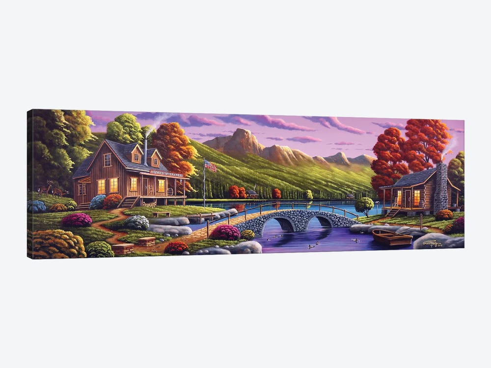Lakeside Paradise by Geno Peoples 1-piece Art Print
